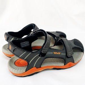 Teva Kids Sandals Gray & Orange W/Shock Pad